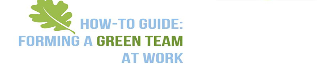 How to start a green team at work banner