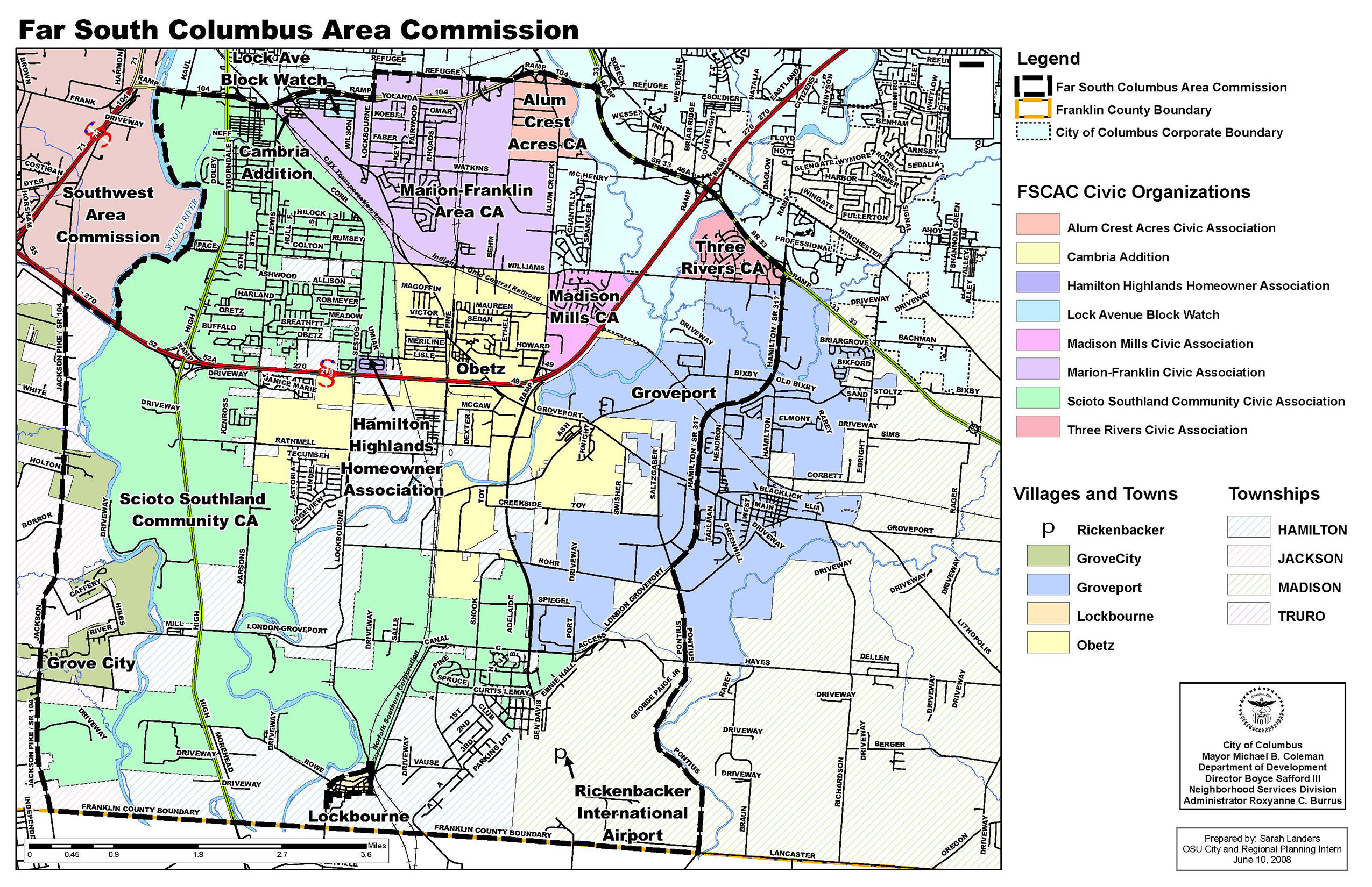 Far south columbus area commission far south boundaries malvernweather