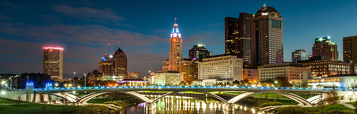 Columbus Night Skyline