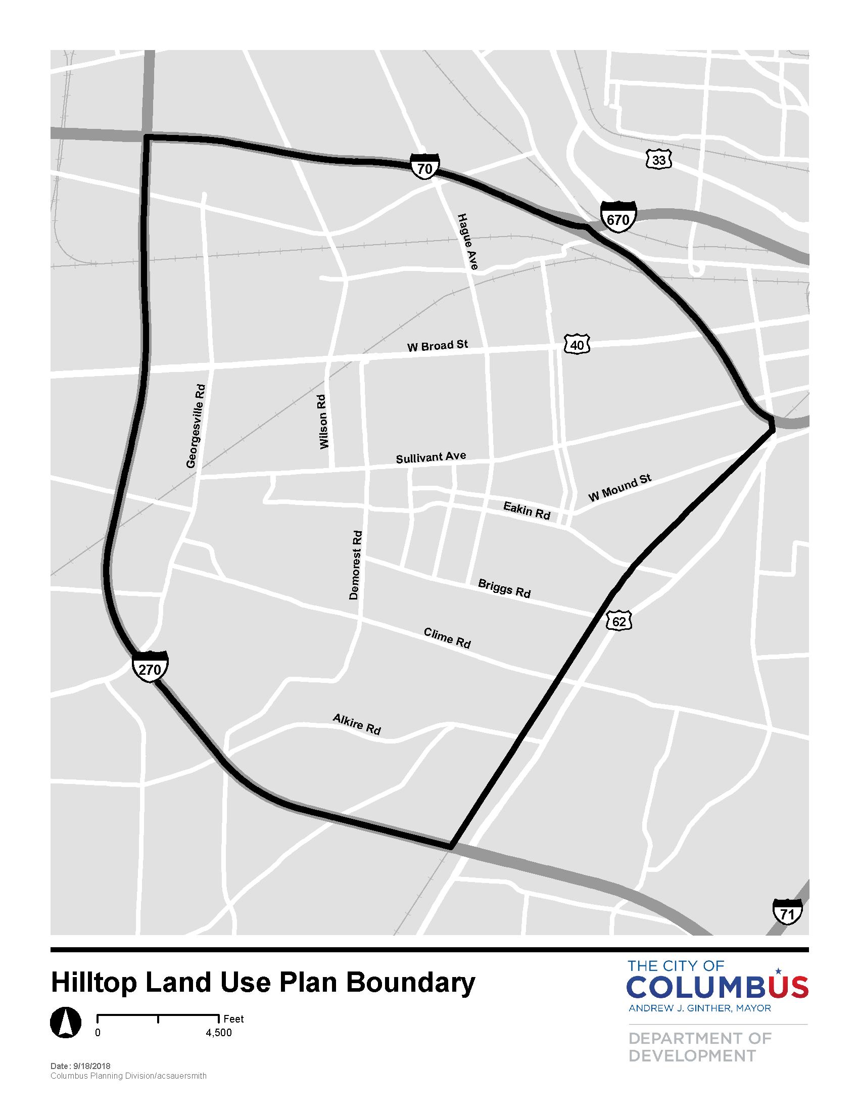 Hilltop Land Use Plan (2018-2019)