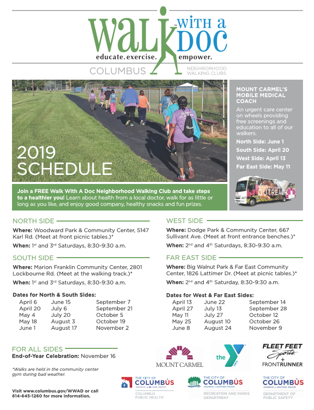Walk with a Doc 2019 Schedule