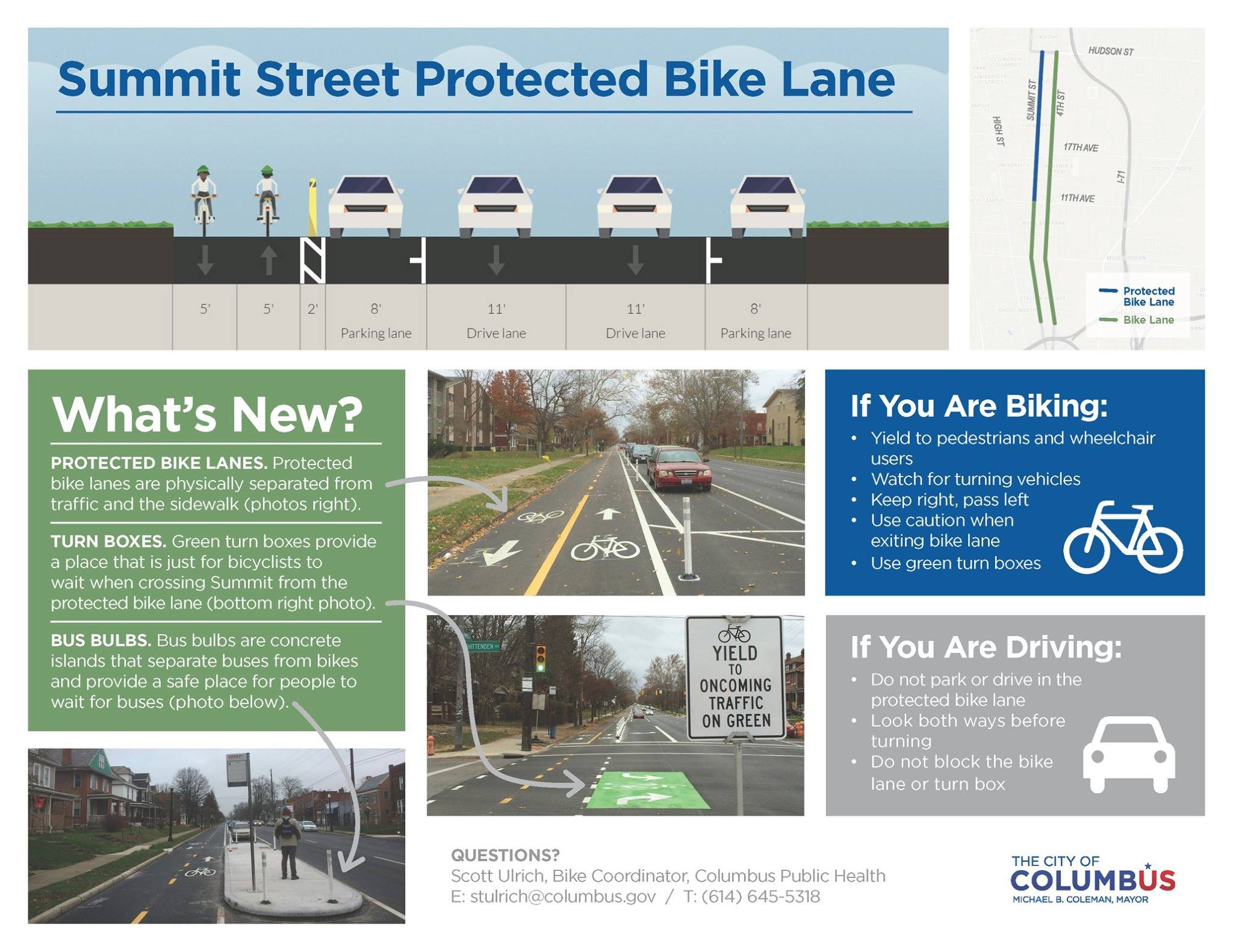Summit Protected Bike Lane Brochure for Social Media