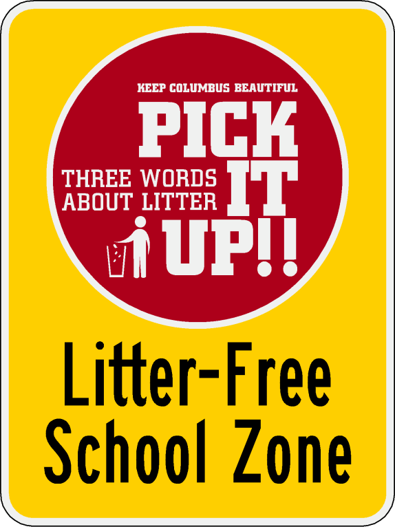 Litter Free School sign