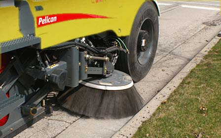 Street Sweeper at curb