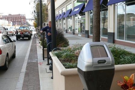 Parking meters in Downtown