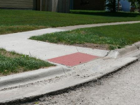 Completed curb ramp