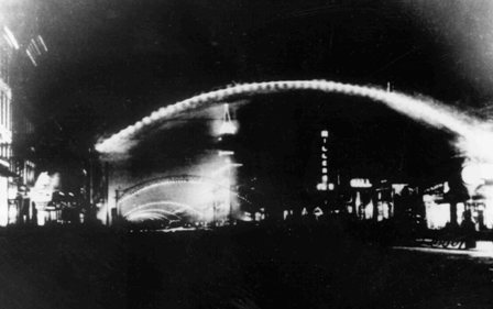 History of streetlights municipal power in columbus in the early 1900s municipal power takes over the lighting of the decorative arches see photo to right on high street making columbus known as the city malvernweather Images