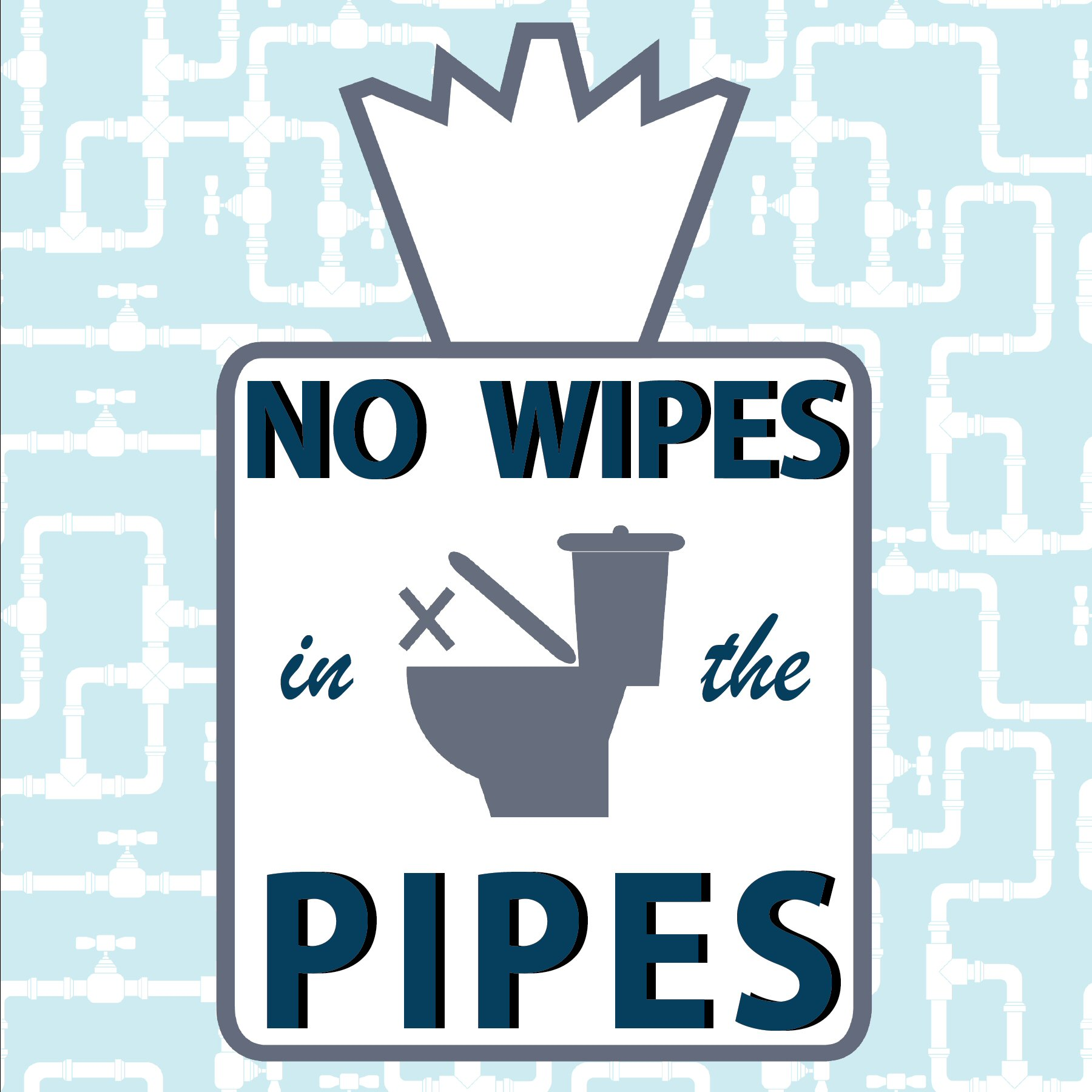 Do Not Flush - No Wipes in the Pipes