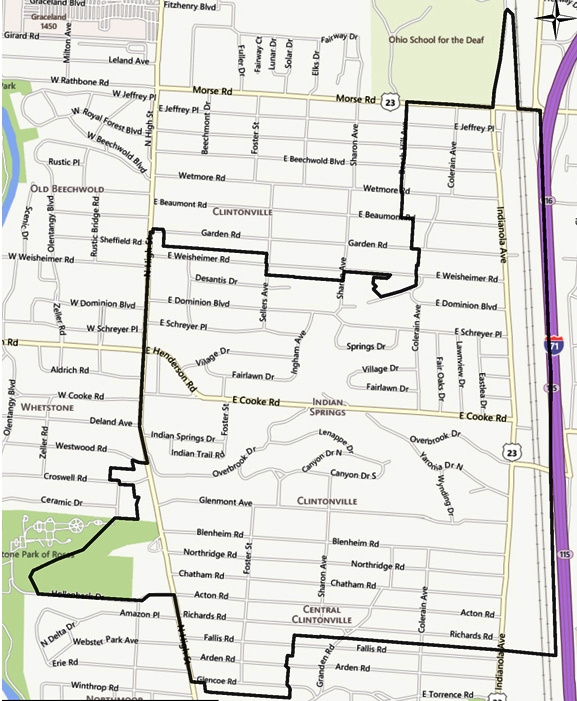 Clintonville Area Map C1