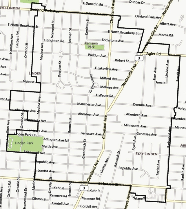 Blueprint columbus current projects linden area map c1 linden area blueprint columbus malvernweather Gallery