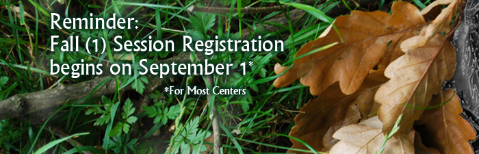 Fall 1 2015 Registration Reminder