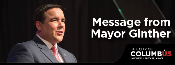 message from Mayor Ginther