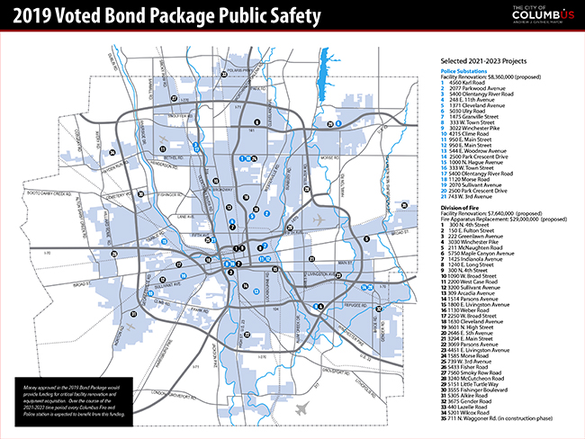 Public Safety Project map 2019