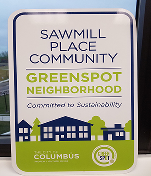 Sawmill Place Community sign