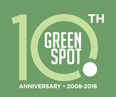 GreenSpot 10th anniversary sign different size