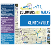 Clintonville Art Walk map images