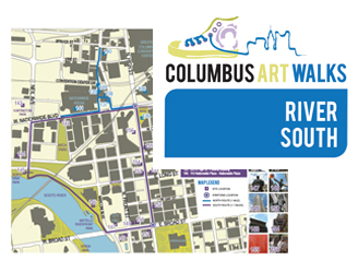 River South Art Walks map