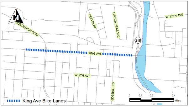 King Ave Bike Lanes