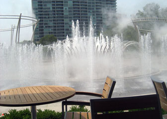 Scioto Mile Fountain Day